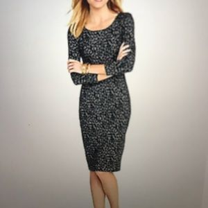 Talbots Leopard Ponte Dress 16 NWT